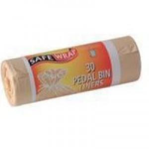 Safewrap 30 Pedal Bin Liners Pk4 Rolls