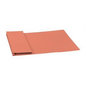 5 Star Elite Document Wallet Full Flap 315gsm Capacity 35mm Foolscap Orange [Pack 50]