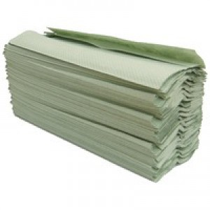 Maxima C Fold H/Towel Green 1Ply Pk20