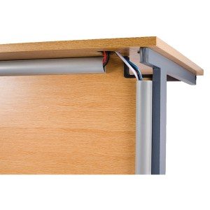 Image for D-Line Desk Trunking 1.5m Slv 2D155025A (0)