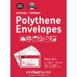 Polythene 460x430 Envelopes Pk20