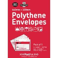 Polythene 460x430 Envelopes Pk20