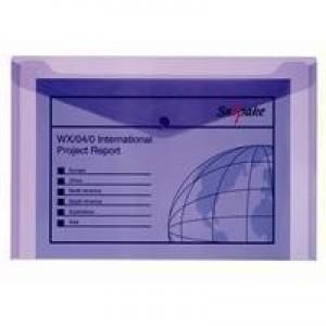 Snopake Purple Elctra Polyfile Pk5 11162