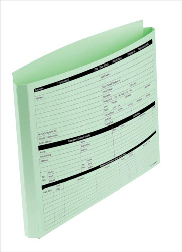 Personnel Wallets Pre-printed Extra Capacity Expandable Gusset Green [Pack 50]