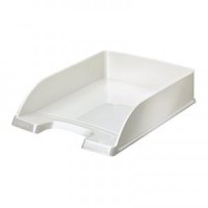 Leitz WOW Lettr Tray Stackable Pearl Wht