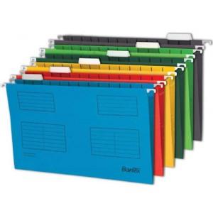 Bantex Flex Suspension File Kraft V-Base 15mm Square 30mm A4 Blue Ref 100331432