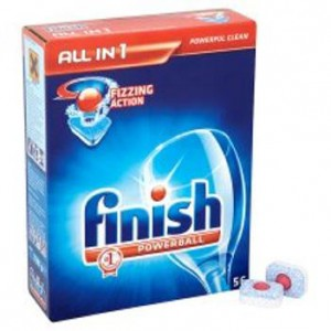 Finish Powerball Dishwasher Tablets All-in-1 Lemon Ref 3041410 [Pack 53]