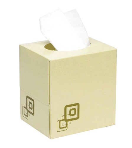 5 Star Facilities Luxury Facial Tissues Two-ply Cube Box 70 Sheets per box White [24 Boxes]