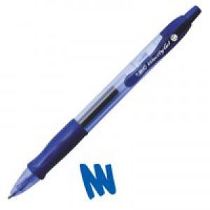 Image for Bic Velocity Gel Rollerball Pen Comfort Grip Retractable 0.7mm Tip 0.3mm Line Blue Code 829158