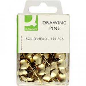 Q-Connect Drawing Pin Solid Head Pk1200