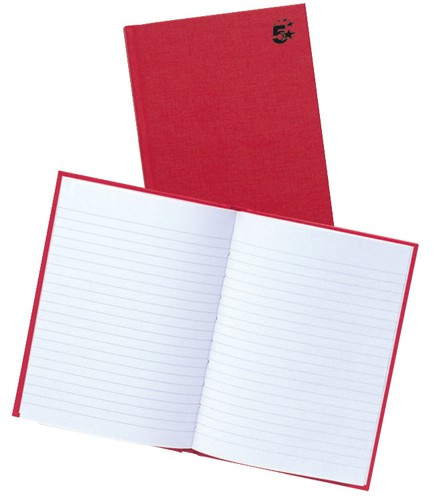 Business Manuscript Book Casebound Ruled 192 Pages A5 [Pack 5]