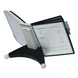 Durable Sherpa Desk Display Unit Complete 10 Index Tabs With 5 Black 5 Grey Panels Code 5632/22