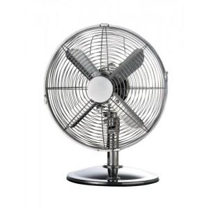 5 Star Facilities Desk Fan Oscillating 48.5Db 3 Speed 45 Watts H425mm Dia.305mm Chrome