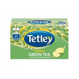 Tetley Tea Bags Green Tea with Lemon Individually Wrapped Ref 1296 [Pack 25]