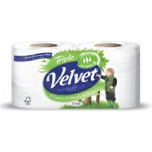 Triple Velvet Wht Toilet Tissue 9pk