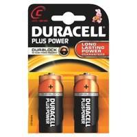 Duracell Plus Power Battery Size C Pk2