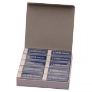 White Pencil Erasers Pk20