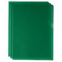 Green Cut Flush Folders Pk100