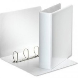 White 65mm Pres 4D-Ring Binder Pk10