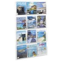 Safco 12 Pocket Magazine Presenter A4