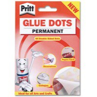Pritt Glue Dots Permanent Double-sided 64 per Wallet Ref 1444964 [Pack 12]