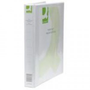 Q-Connect 25mm Pr 4D Ring Binder A4 Wht