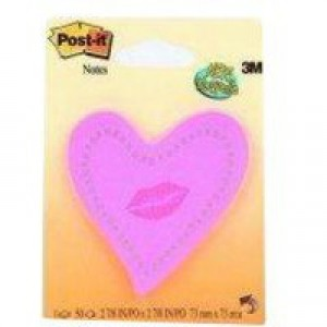 Image for 3M Post-it Heart/Lips Neon Pink 6370-HTL