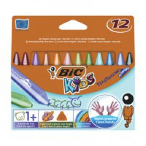 Image for Bic Plastidecor Triangle Crayons Pack 12 (0)