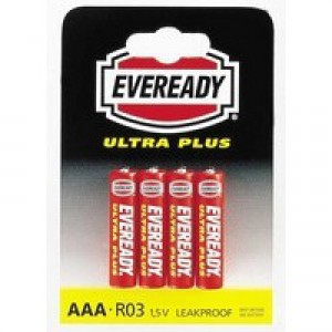 Eveready Super H/Duty AAA Batteries Pk4