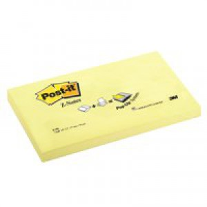 3M Post-it Z Notes 3X5 Yellow R350