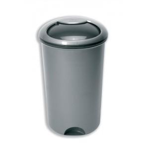 Addis Rotating Lid Bin Plastic 50 Litre Metallic Silver
