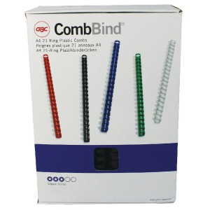 GBC Black 22mm Bind Combs 4028602U Pk100