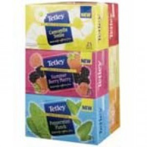 Tetley Tea Bags Fruit and Herbal Variety Box of 25 Ref 1581j [Pack 6]