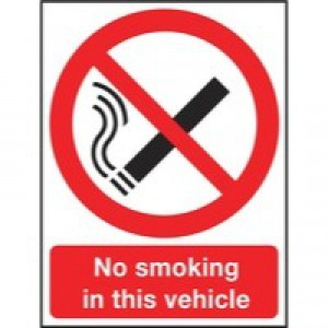 Safety Sign 210x148mm No Smoking PVC