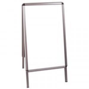 Bi-Office Grey A Frame A1 Info Board