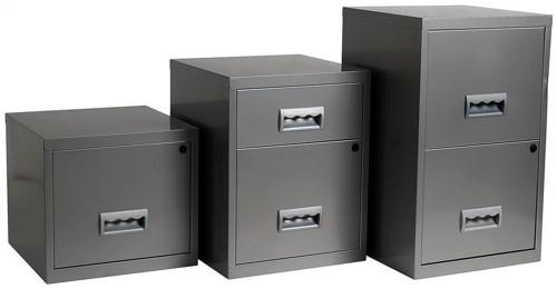 Pierre Henry Filing Cabinet Steel Lockable 1 Drawer A4 Silver Ref 599000