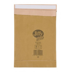 Jiffy Green Padded Bags with Kraft Outer and Recycled Paper Cushioning No.8 442x661mm Ref 01903 [Pack 25]