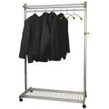 Image for Alba Elegant Metal/Wood Garment Rack PMLUX