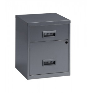 Pierre Henry Combi Filing Unit Cabinet Lockable 2 Drawers A4 Silver Ref 595026