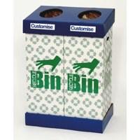 Acorn Office BluGrn Twin Recycling Bin