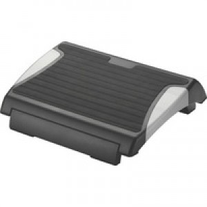 Q-Connect Rubber Black/Silver Foot Rest