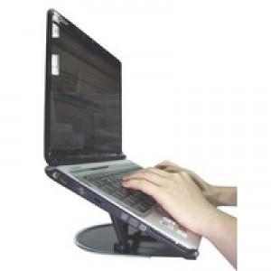 Q-Connect Black Aluminium Laptop Stand