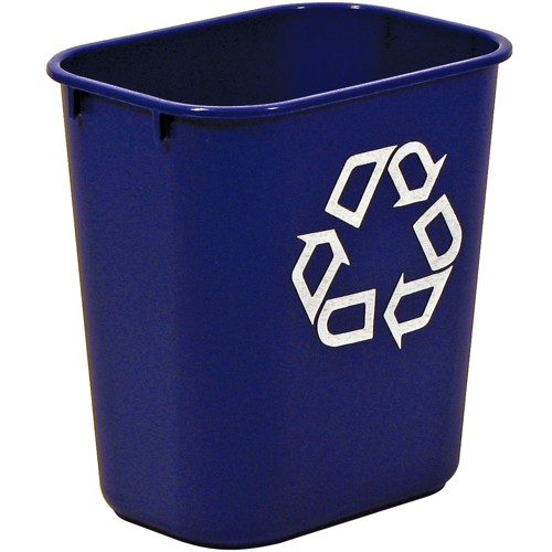 Rubbermaid Wastebasket Polyethylene Rectangular 26.6 Litres W365xD260xH380mm Blue Ref 2956-73-BLU