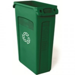 Rubbermaid Slim Jim Venting Green 87Ltr
