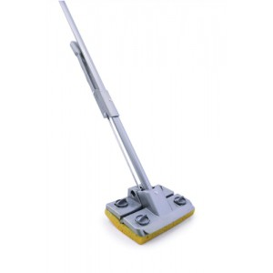 Squeezy Mop with Integrated Scraper Quick Release Refill