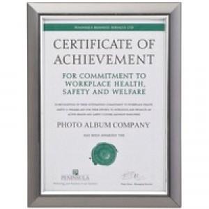 Deluxe Certif Frame A4 Grey SMKA4CERT
