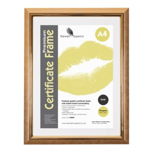 Image for Business Deluxe Certificate Frame Non Glass Holds A4 Gold