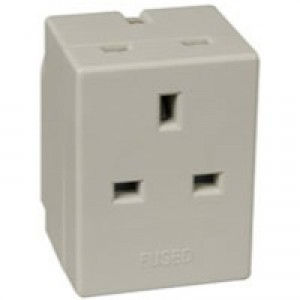 Image for CED 3Way Adapter Fused 13 amp Wht