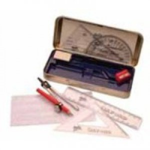 Helix Oxford Maths Set includes Various Stationery Items and Storage Tin Ref B43000