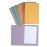 Concord 270gsm Square Cut Folder Medium-weight Foolscap Orange 43206